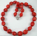 Hot sale Free Shipping>>>>>Beautiful Tibet Real red coral beads necklace ,18'' PNS112