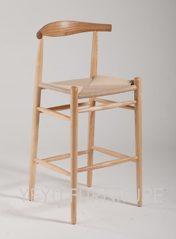 US $288.0  Minimalistischen Modernen Design Feste Asche Holz Hohen  Barhocker Barhocker Möbel Wohnzimmer Möbel Schönes Design Barhocker-in  Bar-Stühlen ...