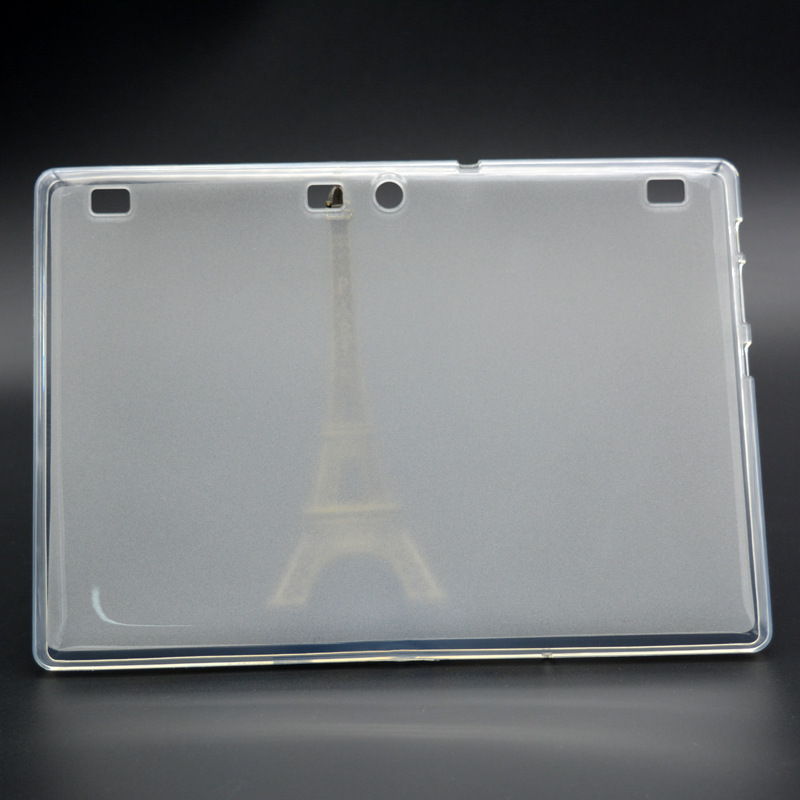 Tab2 A10-70 Cover Transparent Back Case for Lenovo Tab 2 A10-70F A10-70L Soft TPU Rubber Case Shock proof protective Cover for lenovo tab2 a10 70f smart flip leather case cover for lenovo tab 2 a10 70 a10 70f a10 70l tablet 10 1 with screen protector