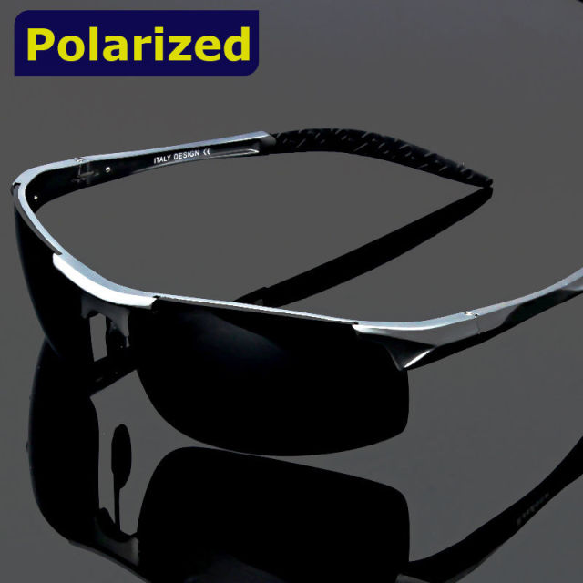 2016 polarized Men's sunglasses aluminum magnesium frame car driving sunglasses outdoor sports for fishing running golf