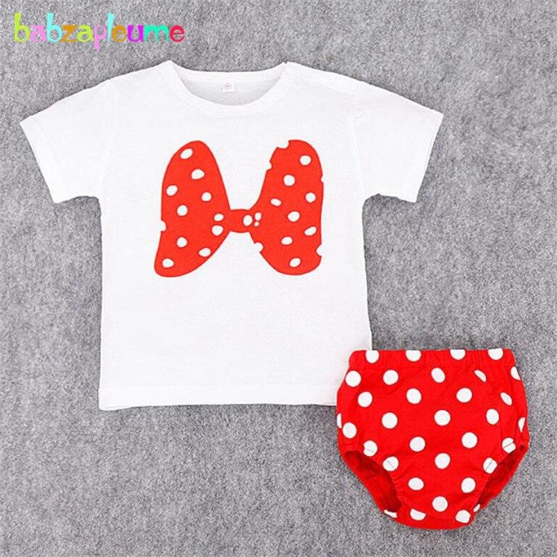 Летний костюм для девочек модная футболка с бантом в горошек и шорты для маленьких мальчиков комплект одежды для малышей одежда для маленьк...