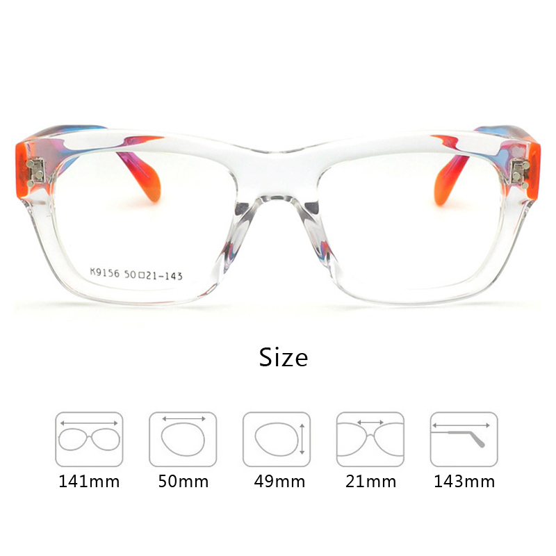 Top Quality Hand made Acetate Optical Glasses Frame Women Fashion Trendy Color Sexy Square Cat Eye Eyeglass Frames Female k9156 in Women 39 s Eyewear Frames from Apparel Accessories