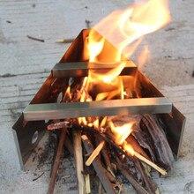 Складной Деревянный дровяная печь уличный для приготовления пищи для кемпинга плитка из нержавеющей стали складной карманный спирт плитка из нержавеющей стали#007