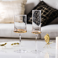 Electroplated gold wine glass Cup goblet Nordic champagne glasses Cups wedding glasses party home Drinkware glass cup