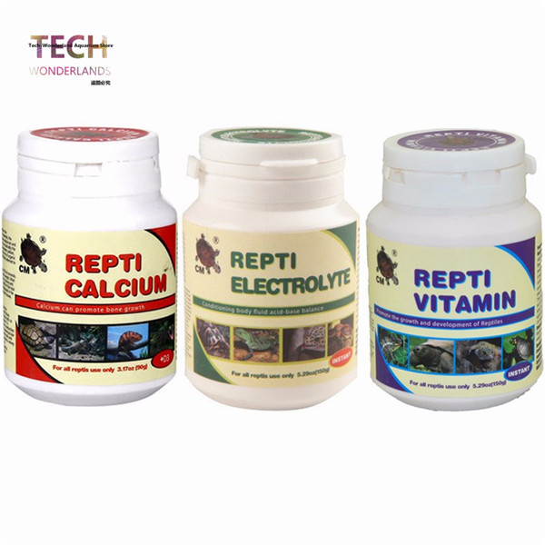 Reptile Supplement REPTI Calcium Vitamin Electrolyte Powder for Amphibious Turtle Lizard Turtoise Frog Geckos free shipping