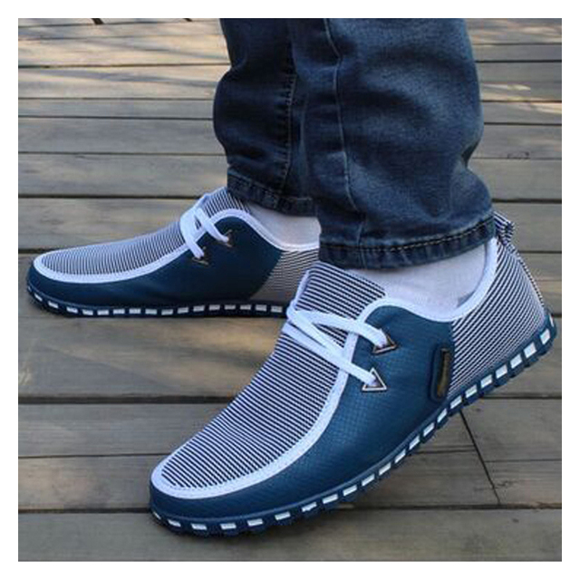 Designer Men Sneakers Casual Shoes Leather Loafers Lace Up Driving Shoes Trainers Flats Slip On SIZE 38-47 Chaussure Homme