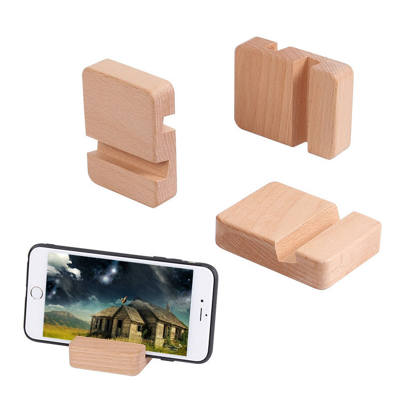 Wooden Phone Holder Stand For IPhone Xs X 8 Mobile Phone Stand For Samsung S10 S9 Huawei IPad Tablet Desktop Stand Desk Holder