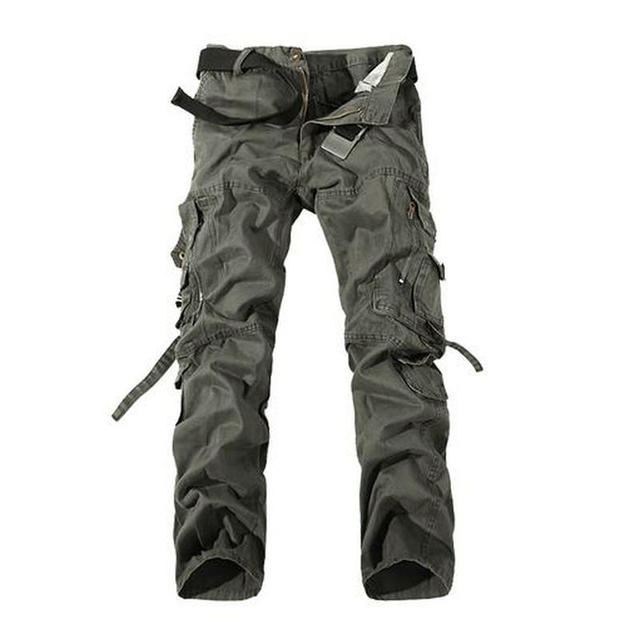 2017 New Army Military Camouflage Overalls Bags Pants Overalls Big Yards Men Military Camo Combat Work Trousers Overalls