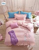 Постельное белье для Принцессы disney, набор для девочек, размер королевы, 100% хлопок, набор постельного белья, 4/5 шт. покрывала для детей, набор п