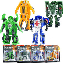 2018 Robot Car Toy Transformation Anime Series Action Figure Toy Robots Plastic Model Toys for Children Best Gifts стоимость