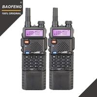 2pcs Baofeng UV 5R 3800 MAh Long Range Walkie Talkie 10KM Dual Band UHF&VHF UV5R Ham Hf Transceiver Portable UV 5R Radio Station