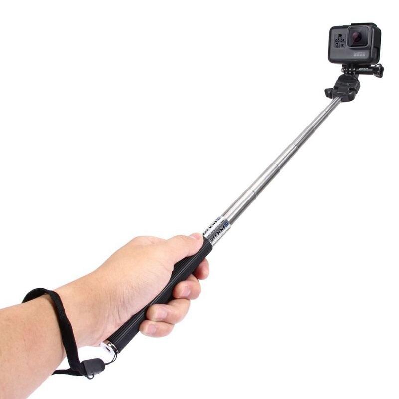 ABHU-PULUZ For Go Pro Accessories Extendable Handheld Selfie Stick Monopod for GoPro HERO5 HERO4 Session HERO 5 4 3+3 2 1SJCAM