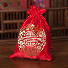 (50 pieces/lot)Big Size Creative Red/Gold Wedding Favors Candy Box Bomboniere Candy Bags Party Supplies Gifts Bag Free Shipping