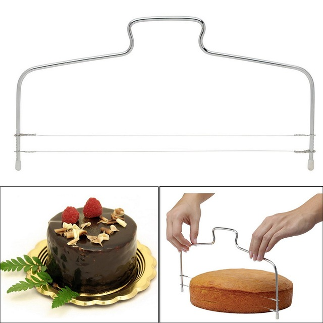 Stainless Steel Wire Cake Cutter Slicer Spatula Silicone Mold Cake Decorating Tools Kitchen Baking Pastry Carving DIY Reusable