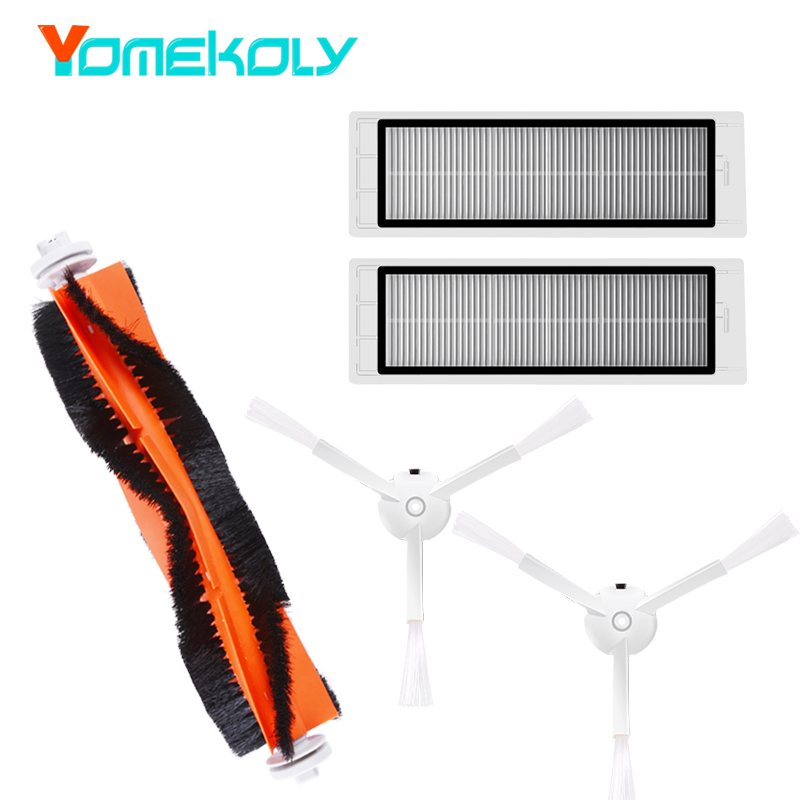 купить Vacuum Cleaner Parts for XIAOMI mijia / roborock Robot Vacuum Part Pack 2pcs HEPA Filters Main Brush Side Brush недорого