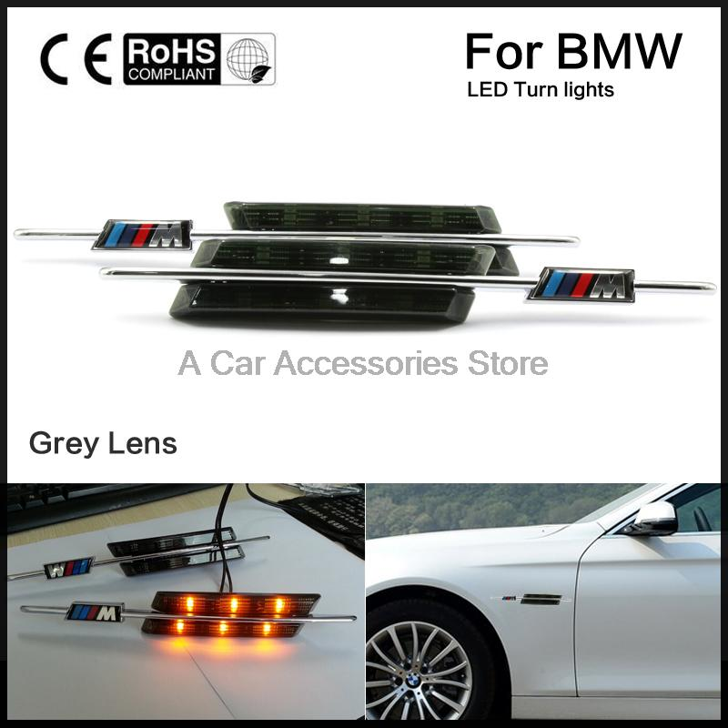 Amber LED Side Marker light for BMW fender turn signals E81 82 87 88 E90 91 92 93 E60 61 atreus 1pair car led fender side turn signals