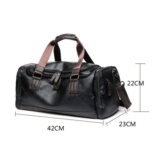 MAGIC UNION New Men's Leather Travel Bags Handbags for Men Shoulder Bags Large-Capacity Big Bag Travel Tote for Business Trip 3