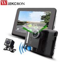 Новый 7 Видеорегистраторы для автомобилей авто Камера Android GPS навигации G Сенсор с заднего вида Камера Антирадары 150 градусов двойной объект