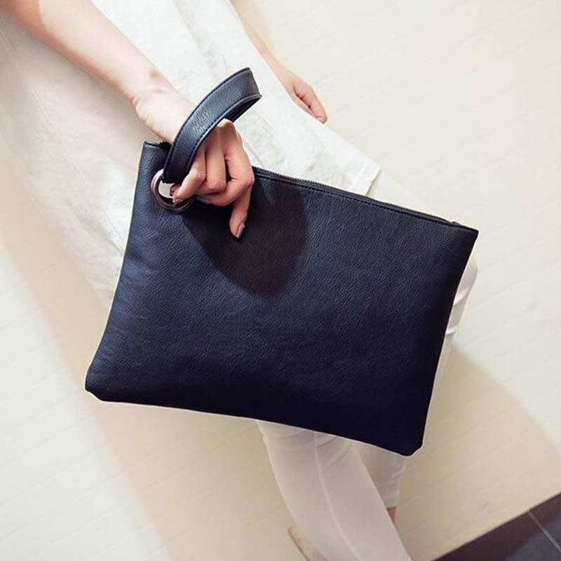 Simple Fashion Women Handbag Solid Color Designer Clutch Bag Leather Envelope Bags Ladies Shoulder Bag Famous Brand Women Clutch