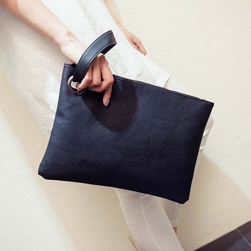 Simple Fashion Women Handbag Solid Color Designer Clutch Bag Leather Envelope Bags Bolsa Feminina Wristlets Bags Women Clutch simple fashion women handbag solid color clutch bag leather envelope bags ladies over shoulder package 88 wml99