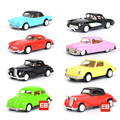 Classic High simulation 1:60 scale diecast Vintage cars metal plastic model Beatles Benz pull back alloy toys collection for kid