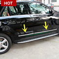 Exterior Side Door Body Molding Cover Trim For Benz GL X166 2013-2015 4pcs