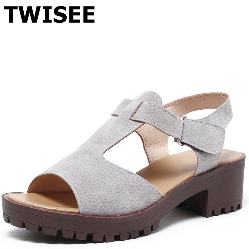 ФОТО T-Strap Synthetic leather summer sandal Elegant ladies women shoes sandals peep toe Square heels 5 cm woman wedding shoes