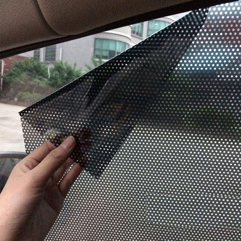 2PCS Car Static Sticker Window Glass Sunscreen Curtain Heat Insulation Curtain Car Sun Shade Sun Block Film Car Sticker New