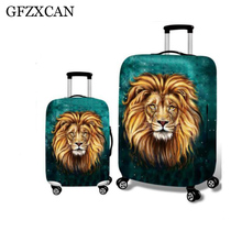 Leopard luggage protection case cover for 18-32 inch trolley elastic thick wear-resistant travel dust