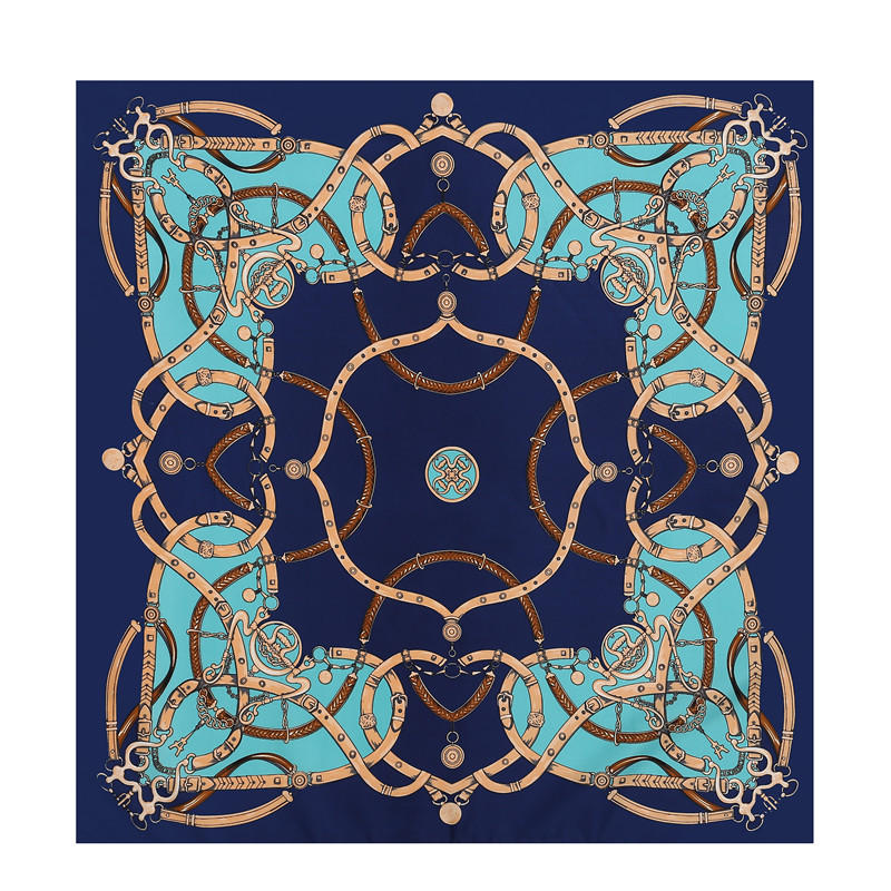 POBING 100% <font><b>Silk</b></font> Square <font><b>Scarf</b></font> Women Femme Foulard NeckerChief High Quality <font><b>Silk</b></font> Floral <font><b>Scarves</b></font> Shawl Hijab Office Bandana70*<font><b>70cm</b></font> image