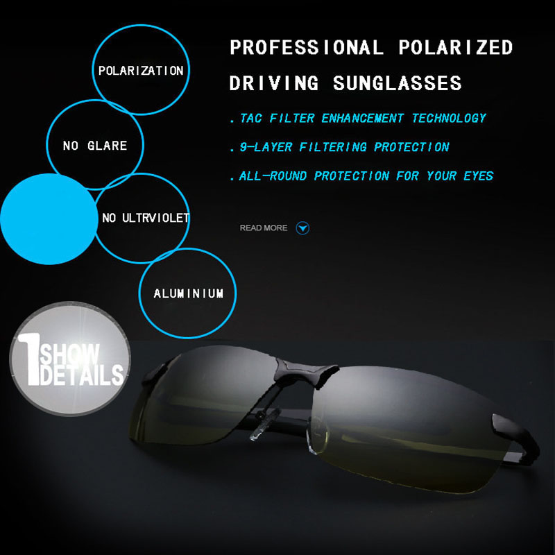 VEGA Polarized Yellow Driving Solglasögon på natten Högkvalitativ - Kläder tillbehör - Foto 5
