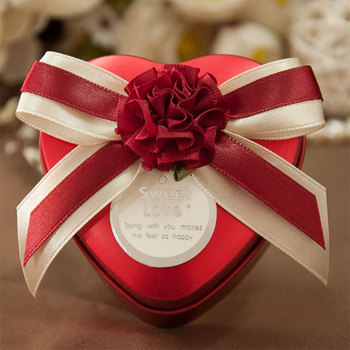 20pcs Wedding candy boxes creative wedding candy packaging box China wedding candy box tin red wind