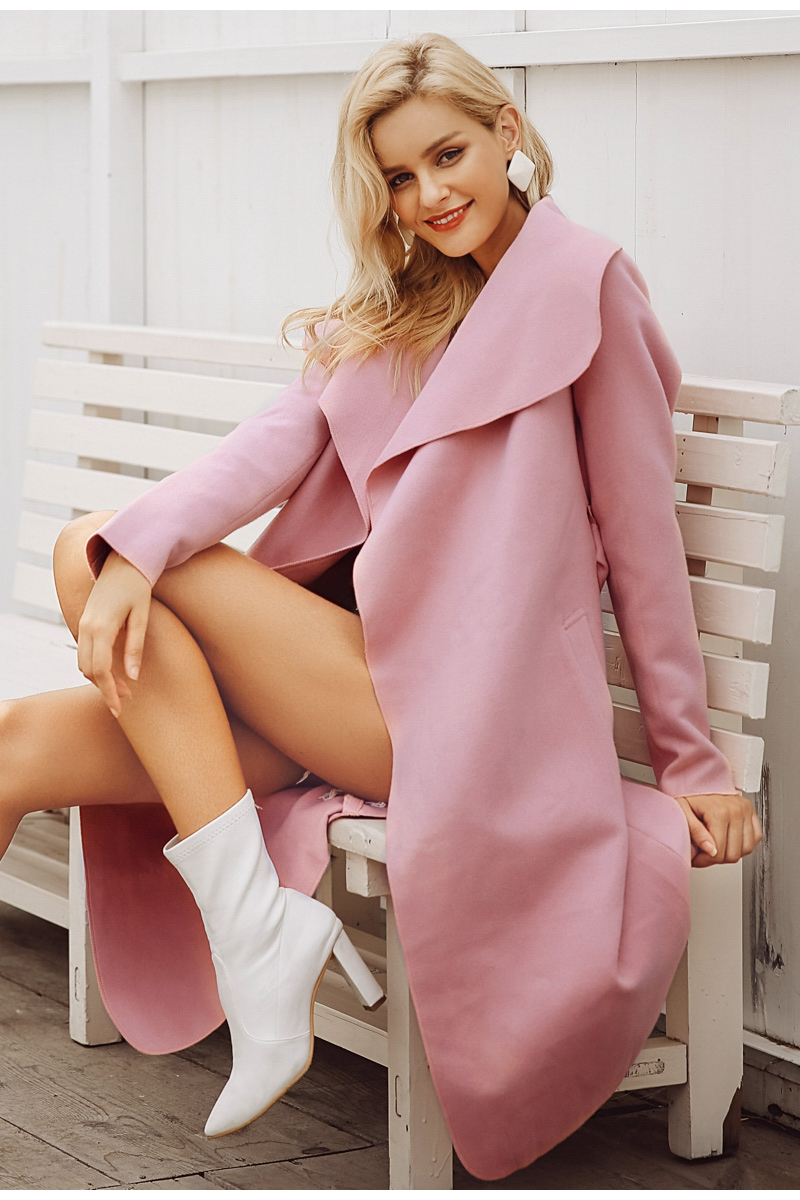 collar wool blend coat