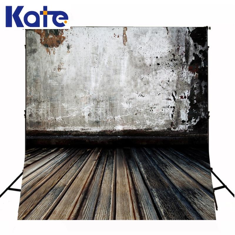 Fond de mur épais enfant Photo Studio chiné usé couleur marron wodden étage photographie décors fotografia photocall