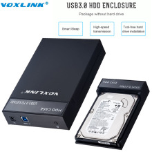 VOXLINK USB3.0 a SATA 2.5/3.5 pulgadas HDD Docking Estación de Disco Duro SATA Storage Enclosure Caja Con Adaptador de corriente