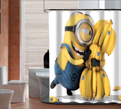 The Minions Custom Shower Curtains