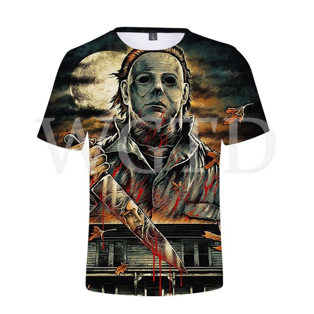 Halloween Michael Myers T Shirt 3D Printed Tee Tops Streetwear Casual T-shirt for Women Men Summer Short Sleeve T Shirts