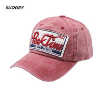 SUOGRY New Washed Cotton Baseball Cap 2019 Snapback Hat for Men Dad Women Hat Embroidery Casquette Casual Hat Hip Hop Cap цена в Москве и Питере