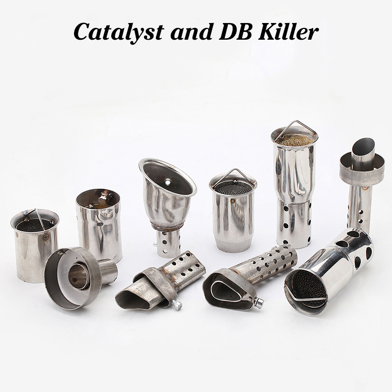 Muffler Silencer Db Killer Mid-End-Catalyst Motorcycle Exhaust Universal Front 51/60MM