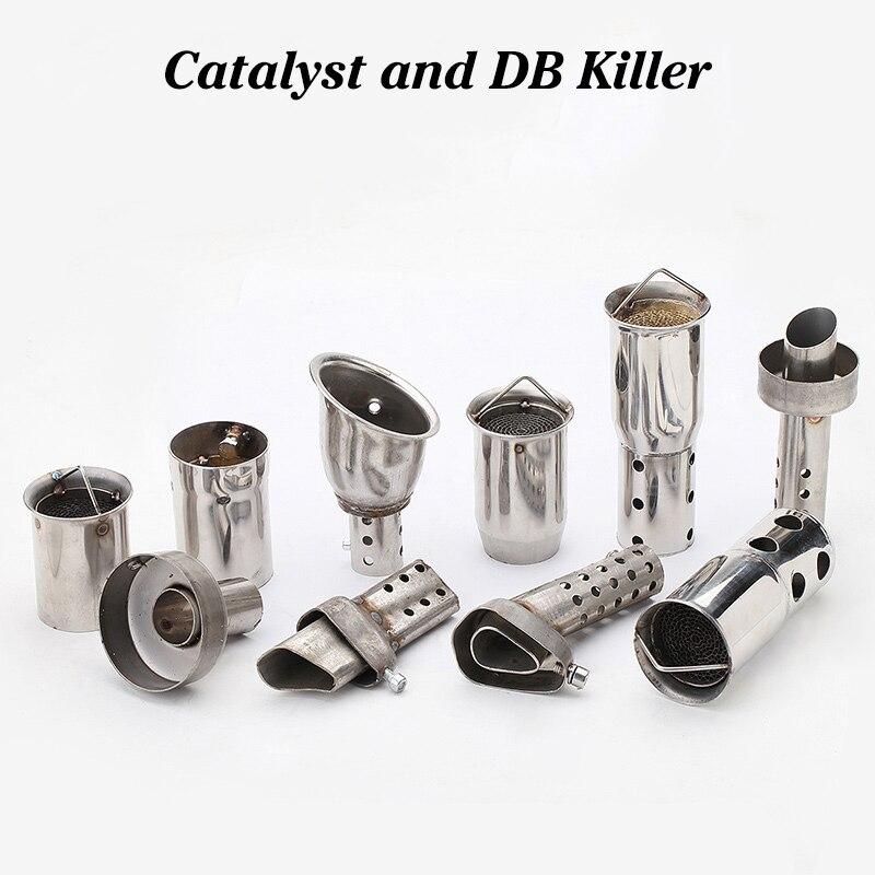 Freies verschiffen Universal 51/60mm Front Mid Ende Catalyst DB Mörder für Motorrad Auspuff Schalldämpfer Noise Sound eliminator