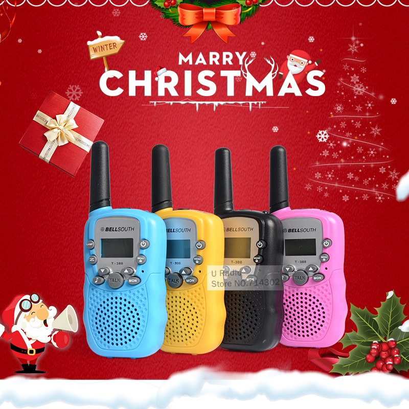 2 pack, Black Walkie Talkies For Kids Rechargeable EasyTalk M1 UHF 400-480MHz 22Channels Mini FRS GMRS Radios 2-way with Earpiece for Adults Boys Grils