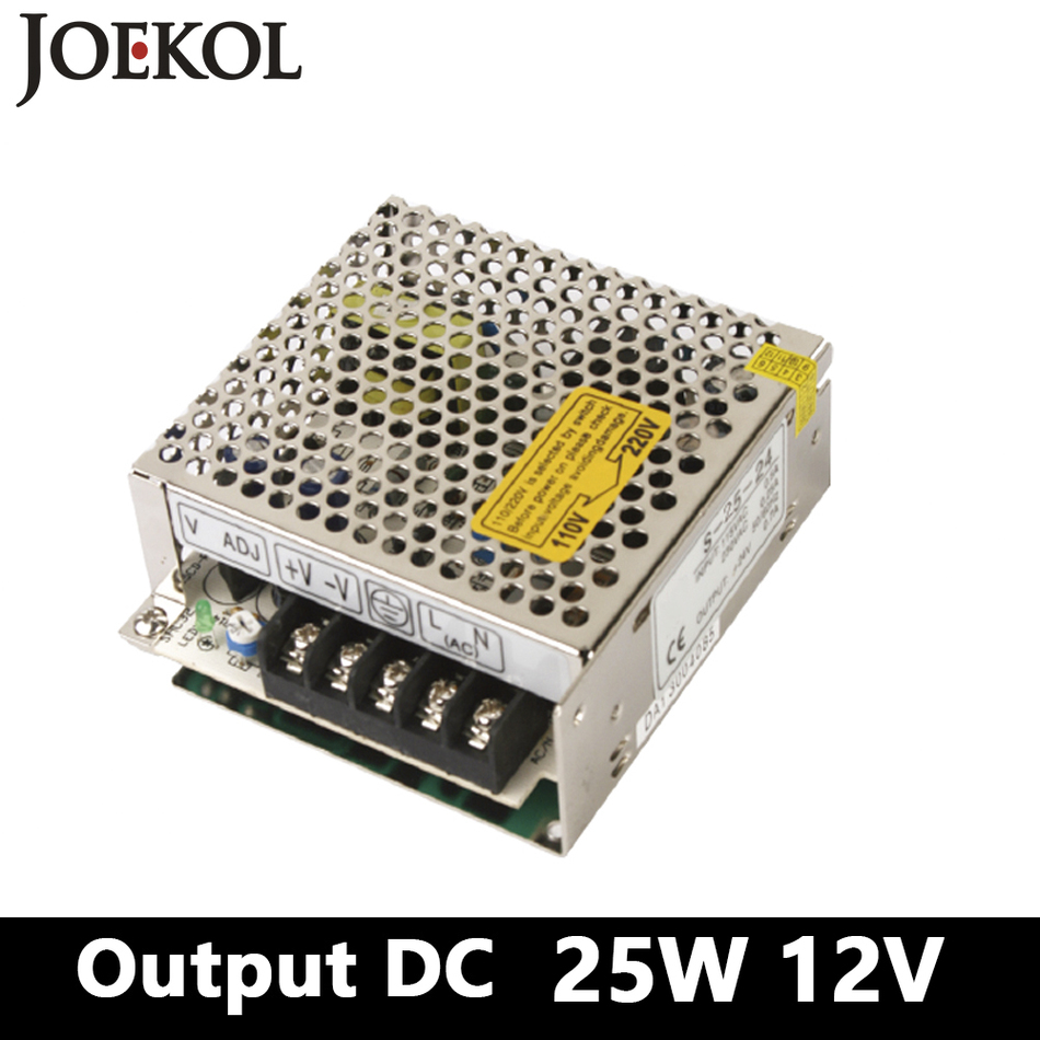 Mini switching power supply 25W 12V 2A Single Output ac dc converter for led driver,AC110V/220V to DC 12V ac dc switching power supply 12v 15w 220v 110v to 12v dc adapter for led display led string led sign high efficiency mini size