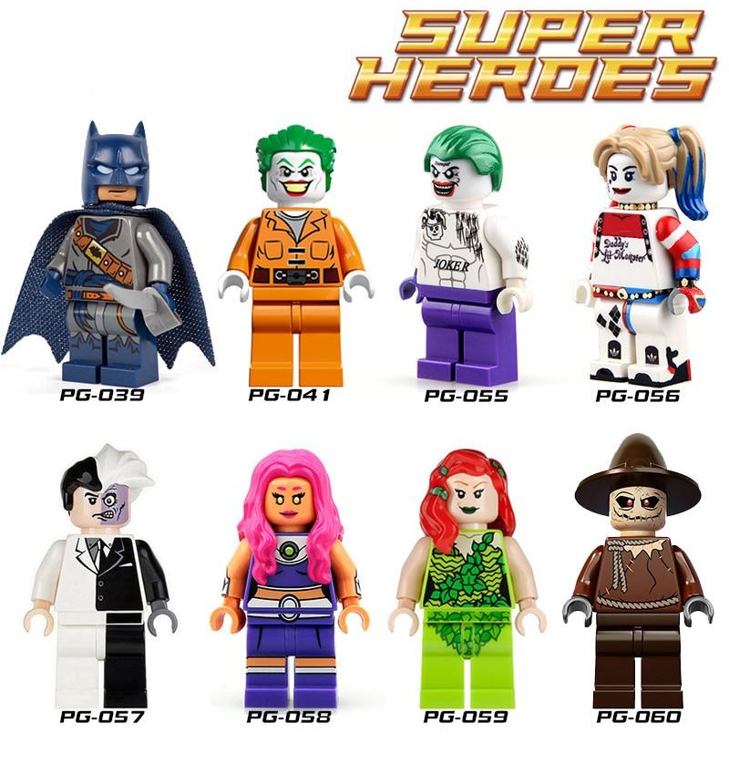 Single Sale Superheroes Suicide Squad Joker Harley Quinn TwoFace Starfire Blocks diy figures Aqua Man Pirates Batman Toys single sale dc superheroes diy figures suicide squad joker harley quinn batman building blocks kids toys gift