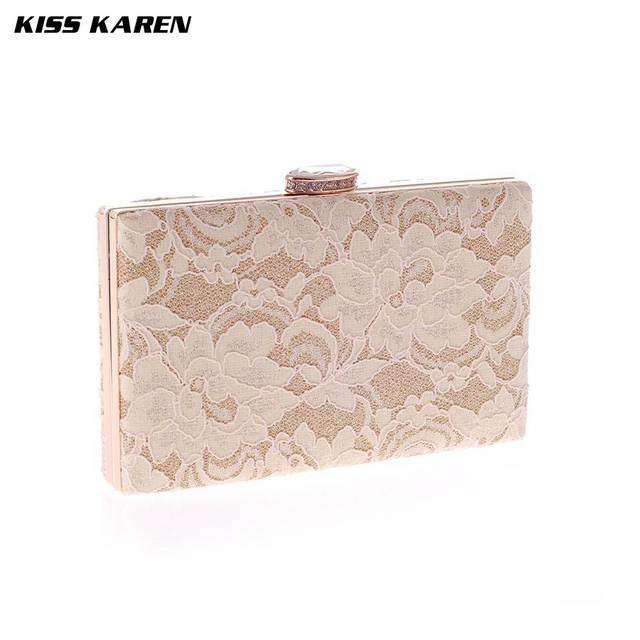 Kiss Karen Exquisite Flowers Embroidery Bags Women's Clutches Women Evening Bags Party Clutch Lace Elegant Lady Minaudiere