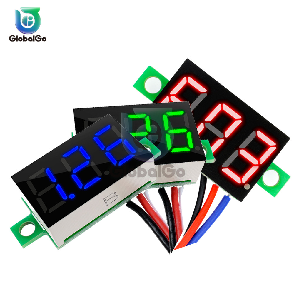 <font><b>0.36</b></font> inch 3-Wire Voltmeter DC 0-30V Super Mini <font><b>LED</b></font> Digital Car Voltmeter Voltage Volt Panel Meter battery monitor 3-Digital image