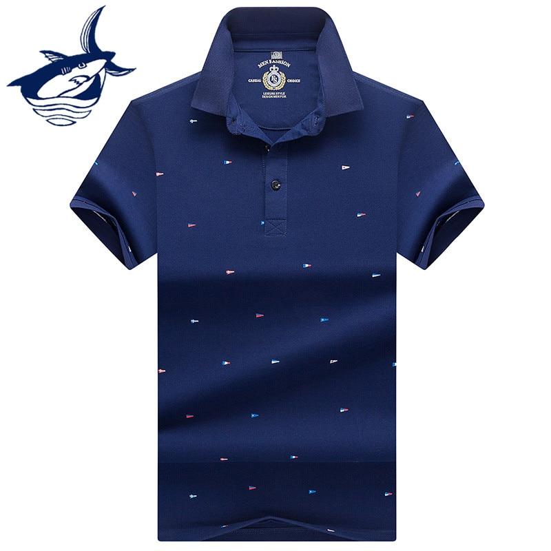2018 Men Clothing Solid Polo Shirt Men Embroidery Brand Tace & Shark Men Polo Shirt Classic Business polos para hombre