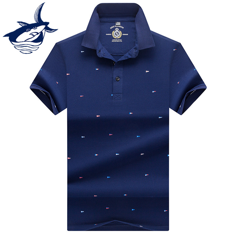 2018 Men Clothing Solid   Polo   Shirt Men Embroidery Brand Tace & Shark Men   Polo   Shirt Classic Business   polos   para hombre