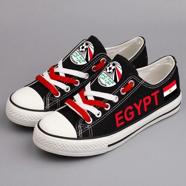 e5dcfee341 Custom Egyptian Nation Printing Canvas Shoes Unisex Flat Espadrilles  Graffiti Egypt Flag Casual Shoe Plus Size
