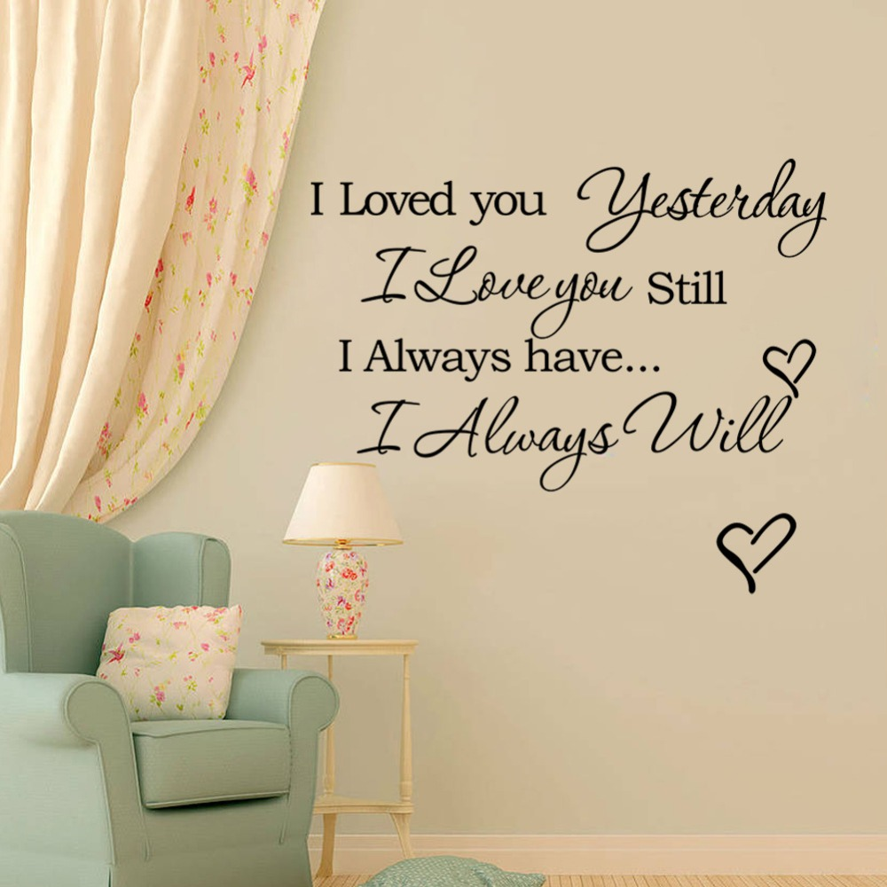 "Living Room Sayings i love you""romantic love quotes and sayings wall decals, living"