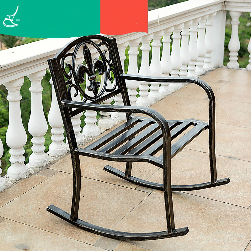 Outdoor Chairs Adult Balcony Rocking Chair Lunch Break Chair Lazy Chair the rocking chair real wood chair lazy people leisure chair